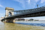 Budapest Chain Bridge day view Stock Photos