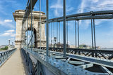 Budapest Chain Bridge day view Stock Photo