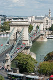 Budapest, Chain Bridge. And Gresham Palace Royalty Free Stock Photo