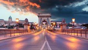 Budapest - Chain bridge royalty free stock image