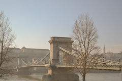 Budapest chain bridge Royalty Free Stock Photography