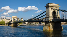 Budapest, The Chain Bridge On The River Danube Royalty Free Stock Photography