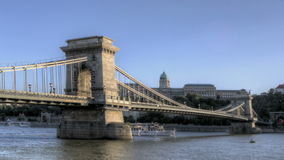 Budapest Chain Bridge Stock Photography