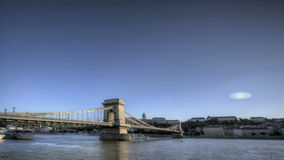 Budapest Chain Bridge Royalty Free Stock Photo