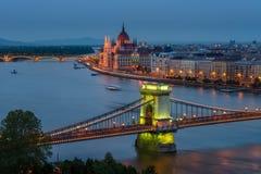 Budapest Chain bro Fotografering för Bildbyråer