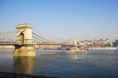 Budapest Chain bro Royaltyfri Fotografi