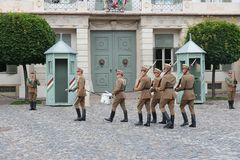 Budapest changing of guards Royalty Free Stock Images