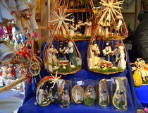 Budapest Christmas fair stand Royalty Free Stock Photos