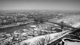 Budapest view from Citadella stock photography