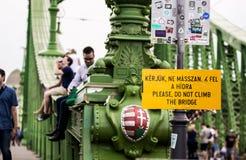 Budapest city bridge royalty free stock image