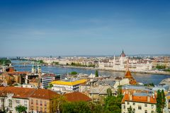 Budapest city center and the Danube River Royalty Free Stock Photos