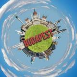Budapest tiny planet Stock Photos