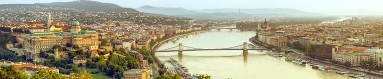 Budapest City Panorama Hungary Stock Image
