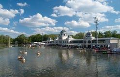 Budapest City Park Lake Royalty Free Stock Photo