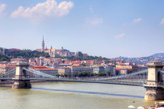 Budapest city scape with Castle. Stock Photos