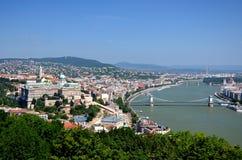 Budapest - Panorama to the city Stock Image