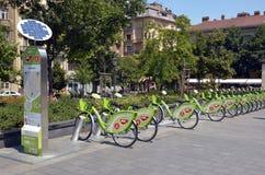 Budapest BUBI bike rental system. BUBI bike rental system station Stock Photo