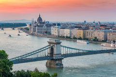 Budapest city skyline Royalty Free Stock Photo