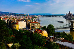 Budapest city view Royalty Free Stock Images