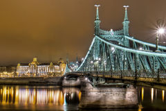 Budapest. The city of Budapest. Walking around during the night gives you some spectacular views. Old city is filled with a great atmosphere. All the lights and Royalty Free Stock Photo