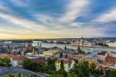 Budapest cityscape Royaltyfria Bilder