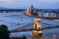 Budapest Cityscape at Dusk Royalty Free Stock Photography