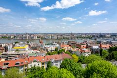 Budapest cityscape from Fisherman Bastion, Hungary stock images