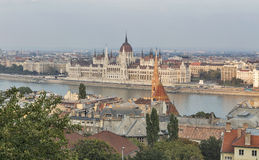 Budapest cityscape with Hungarian Parliament Building Royalty Free Stock Photos
