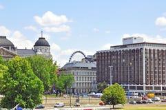 budapest cityscape hungary Arkivbilder
