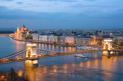 Budapest, Cityscape By Night Royalty Free Stock Image
