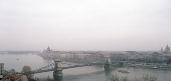 Budapest cityscape. Panoramic view of the Budapest on a cloudy day Stock Photography