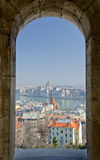 Budapest, Cityscape with Parliament Royalty Free Stock Photo