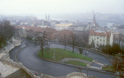Budapest cityscape. View of the Budapest on a foggy day Royalty Free Stock Photos