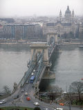 Budapest cityscape. View of the Budapest on a foggy day Stock Images