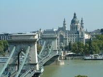 Budapest com a corrente de Széchenyi Fotografia de Stock