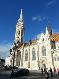 Budapest curch. Budapest hungary old curch clear sky royalty free stock photos