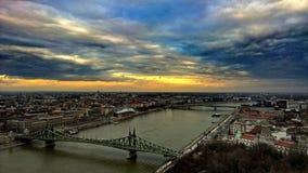 Budapest dalla collina del gellért Immagini Stock