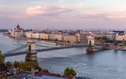 Budapest dans le crépuscule photo libre de droits