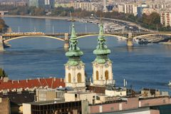 Budapest, Danube. Budapest from the Fisherman's Stock Photos