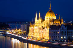 Budapest, Danube and Hungarian Parliament Stock Images