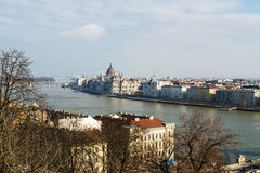 Budapest , Danube . Hungary . Beautiful photo on Budapest and Danube from the top Stock Image