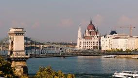 Budapest Danube i parlamentu rzeka zdjęcie wideo