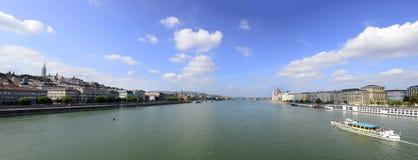 Budapest Danube Panorama Royalty Free Stock Photos