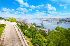 Budapest and Danube panorama view from top Stock Photo