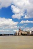 budapest danube parlament Royaltyfri Fotografi