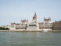 budapest danube parlament royaltyfria foton