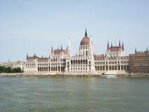 budapest danube parlament Royaltyfri Foto