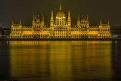 Budapest, Danube, Parliament Stock Photos