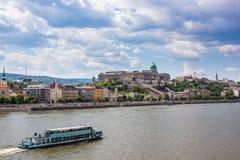 Budapest Danube River Arkivbild