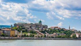 Budapest Danube River bank Royaltyfria Bilder
